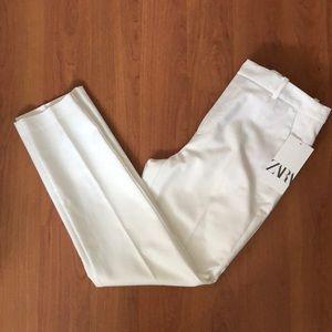 Zara white dress pants